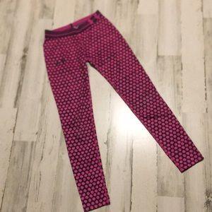 UA athletic leggings polka dot pattern